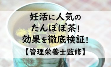 【管理栄養士監修】妊活の飲み物に人気のたんぽぽ茶!効果を徹底検証!